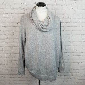 Alfani Intimates|Cowl Neck High Low Sweater Gray